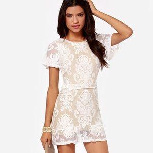 For Love & Lemons San Marcos Backless Ivory Dress